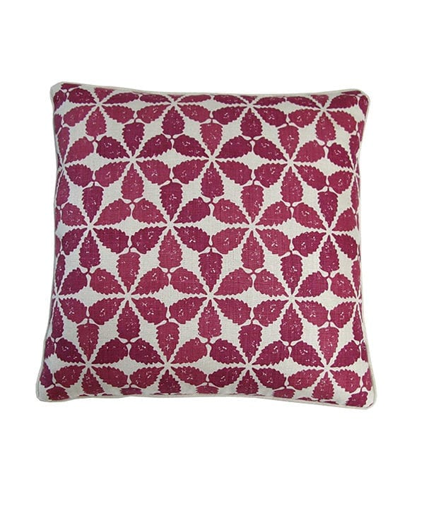 Moroccan cushion in cranberry red, Telescope Style.