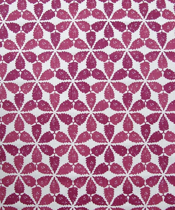 'Maroc' fabric in cranberry red, Telescope Style.