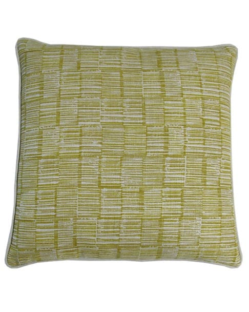 Japanese style cushions in hand-printed linen available through Telescope Style.