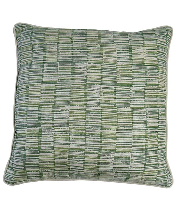 Stylish green cushions in a distinctive Japanese style print 'Sakori' in Midori from Telescope Style.