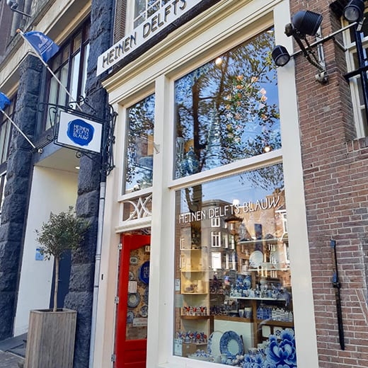 The Heinen Delfts Blauw shop in Amsterdam.