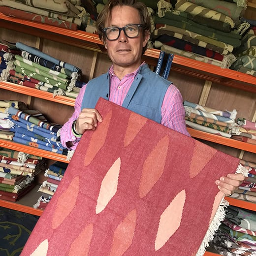 Michael Curtis Green from Indian rug design firm Mahout Lifestyle, pictured here, gives us the lowdown on dhurries.