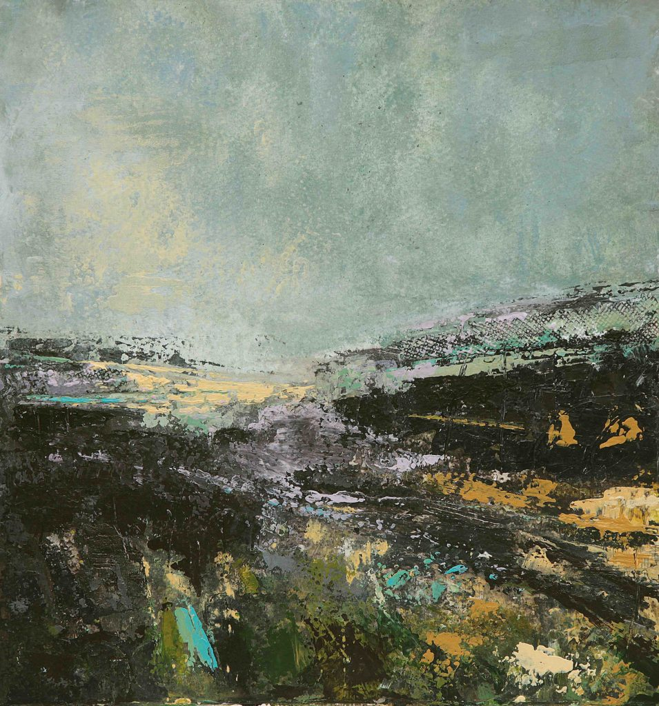 Irish landscape print Sea Lavender by Emma Tweedie.