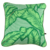 Palm print cushions in green.