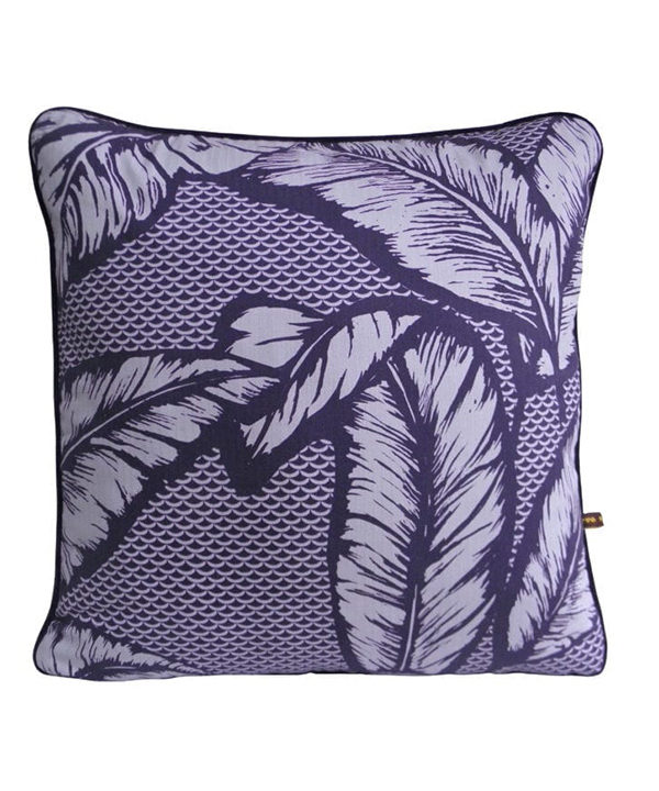 Palm tree cushion in purple.