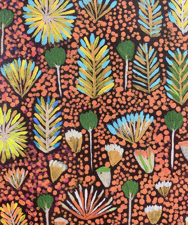 Aboriginal art wallpaper detail.