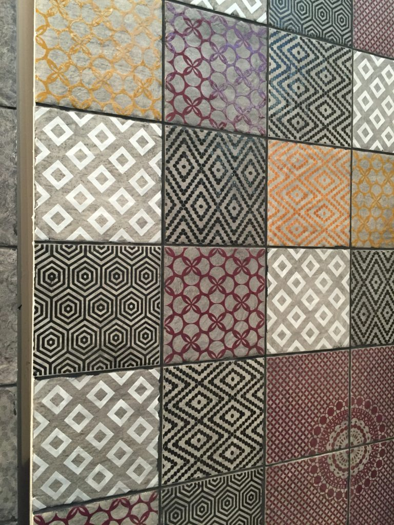 A selection of geometric tiles by Bedrock Tiles.